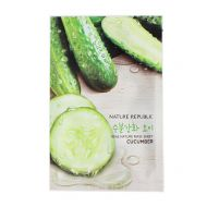 NATURE REPUBLIC Real Nature Mask Sheet Cucumber - Тканевая маска для лица с экстрактом огурца.