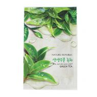 NATURE REPUBLIC Real Nature Mask Sheet Green Tea - Тканевая маска для лица с экстрактом зеленого чая.